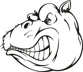 Hippopotamus.Mascot Templates.