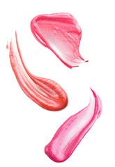 Smears of lip gloss