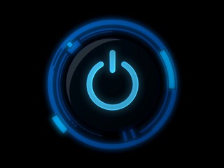 Power button on blue light