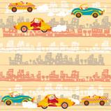 Fototapety Urban traffic , kids cars pattern