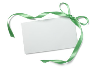 green ribbon card note