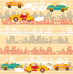 Urban traffic , kids cars pattern