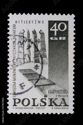 Poster Poland - CIRCA 1967: A stamp - Nazism