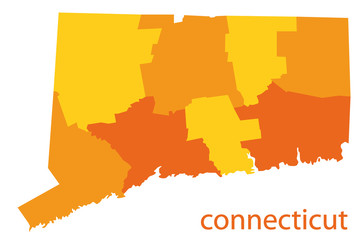 connecticut vector map