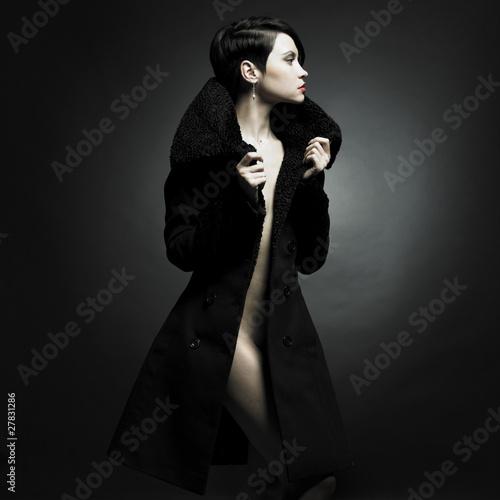 Elegant lady in coat