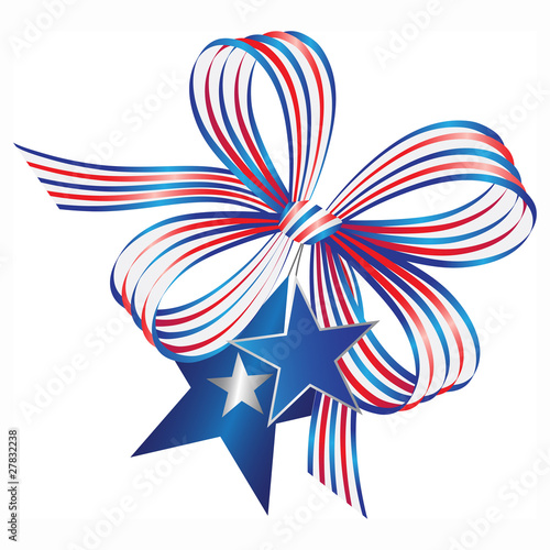 Bow - stars and stripes
