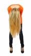 Schöne junge Frau mit langen, blonden Haaren