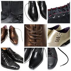 men shoes collage