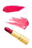 Fototapety Red lipstick isolated on white