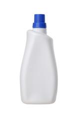 White plastic bottle blue cap