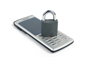 Mobilephone and padlock