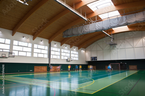 Leinwandbild Motiv interior of a modern multifunctional gymnasium with young people