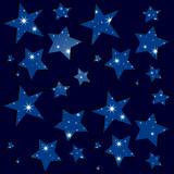 Sternenhimmel, Nacht, funkelnde Sterne, Muster