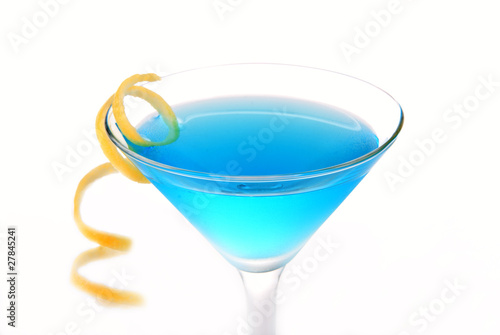 Blue Cosmopolitan cocktail