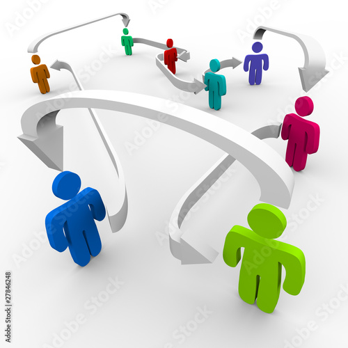 Connected People in Network