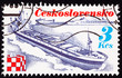 Czechoslovakian Stamp Czech Container Ship Trinec Bow Wave