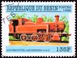 Benin Train Postage Stamp Old Railroad Steam Engine Locomotive