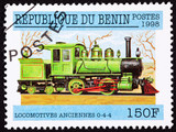 Benin Train Postage Stamp Old Railroad Steam Engine Locomotive