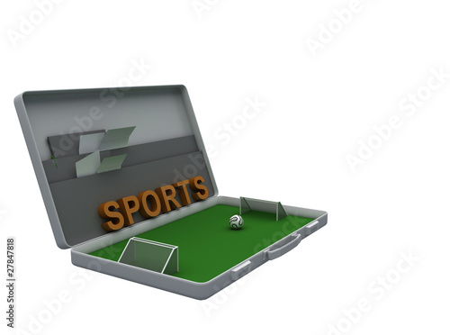 tilted Football briefcase
