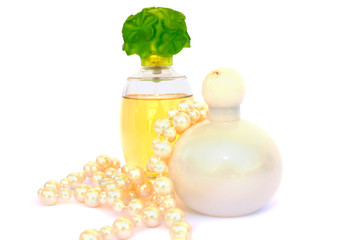 Perfume and necklace