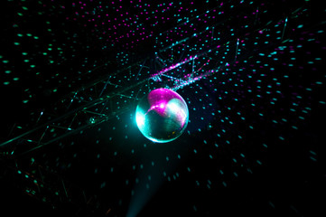 Disco lights mirror sphere