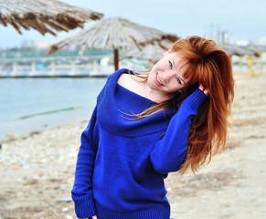 happy redheaded girl