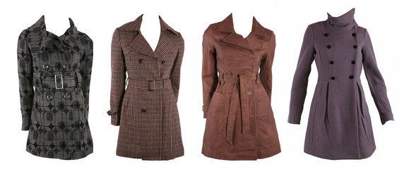Collection of various types of coats