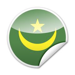 Pegatina bandera Mauritania con reborde