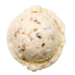 Eiscreme, Eine Kugel Geröstete-Mandel-Eis
