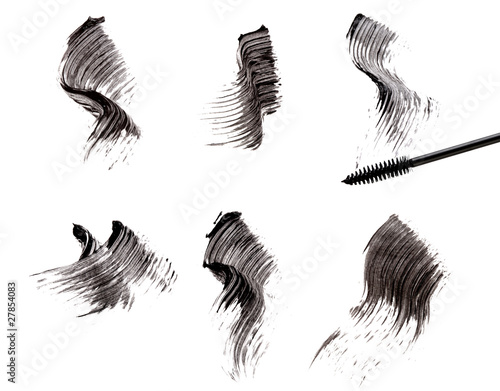 Mascara brush and strokes - 27854083