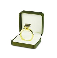 Diamond wedding ring in jewelry box