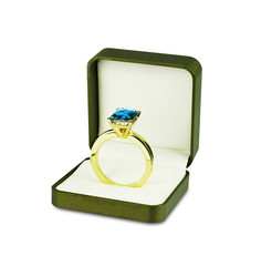 Sapphire ring in box