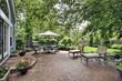 Brick patio of suburban home - 27856242