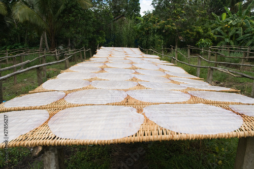 traditionally made rice paper