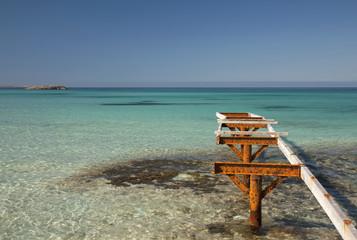 Formentera. Muelle en Mar