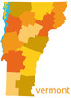 vermont vector map