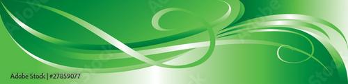 Vector green flourish background - 27859077
