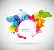 abstract colored background with circles.