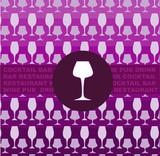bar or restaurant menu- glass on pink glasses template poster