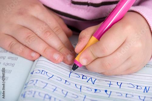 Leinwanddruck Bild Schreiben lernen
