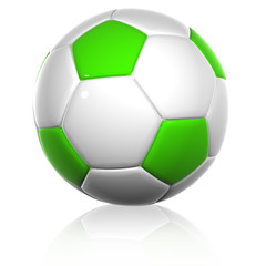 High resolution 3D soccer ball isolated