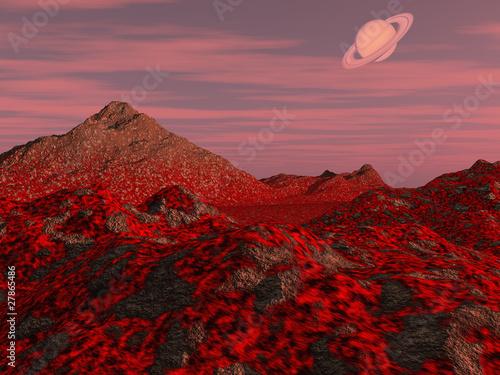 Fototapeten,volcano,landschaft,welt,planentarium