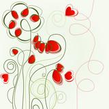 Fototapety Flower love illustration