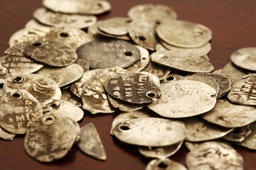 russian ancient coins om the table very old