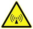 Non ionizing radiations ( radio waves ) symbol