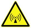 Non ionizing radiations ( radio waves ) symbol