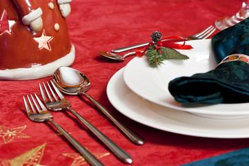 Weihnachtliches Gedeck
