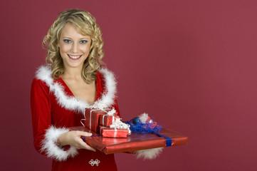 Weihnachtseinkauf -Geschenke