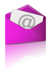 Reflecting E-Mail Icon