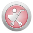 "Light Colored Icon (Red) ""Stroller / Baby Transport"""